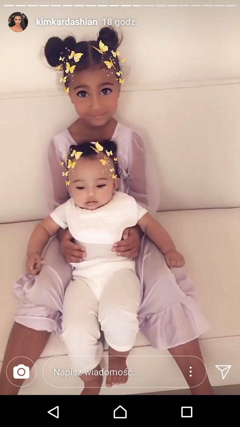 Kim Kardashian pokazała słodkie zdjęcia swoich córek North i Chicago