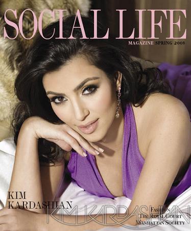 Kim Kardashian dla Social Life Magazine