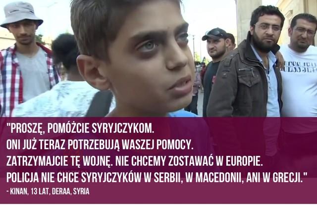 Apel tego 13-letniego Syryjczyka stał się hitem sieci (VIDEO