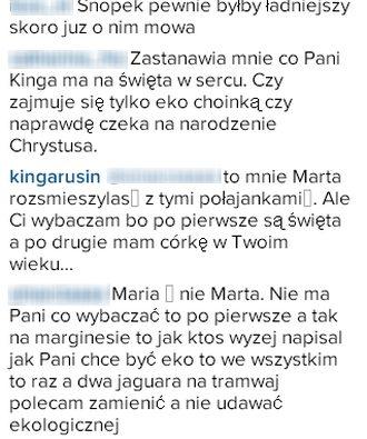 Kinga Rusin ma najbrzydszą choinkę w Warszawie? (Instagram)