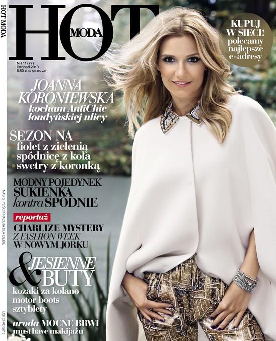 Nieretuszowana(?) Joanna Koroniewska na okładce HOT Moda