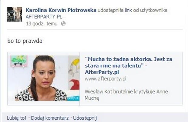 Anna Mucha to żadna aktorka. Jest za stara i nie ma talentu!