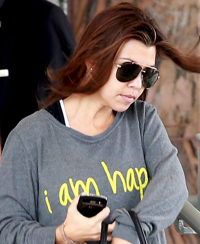 Kourtney Kardashian bez makija�u (FOTO)
