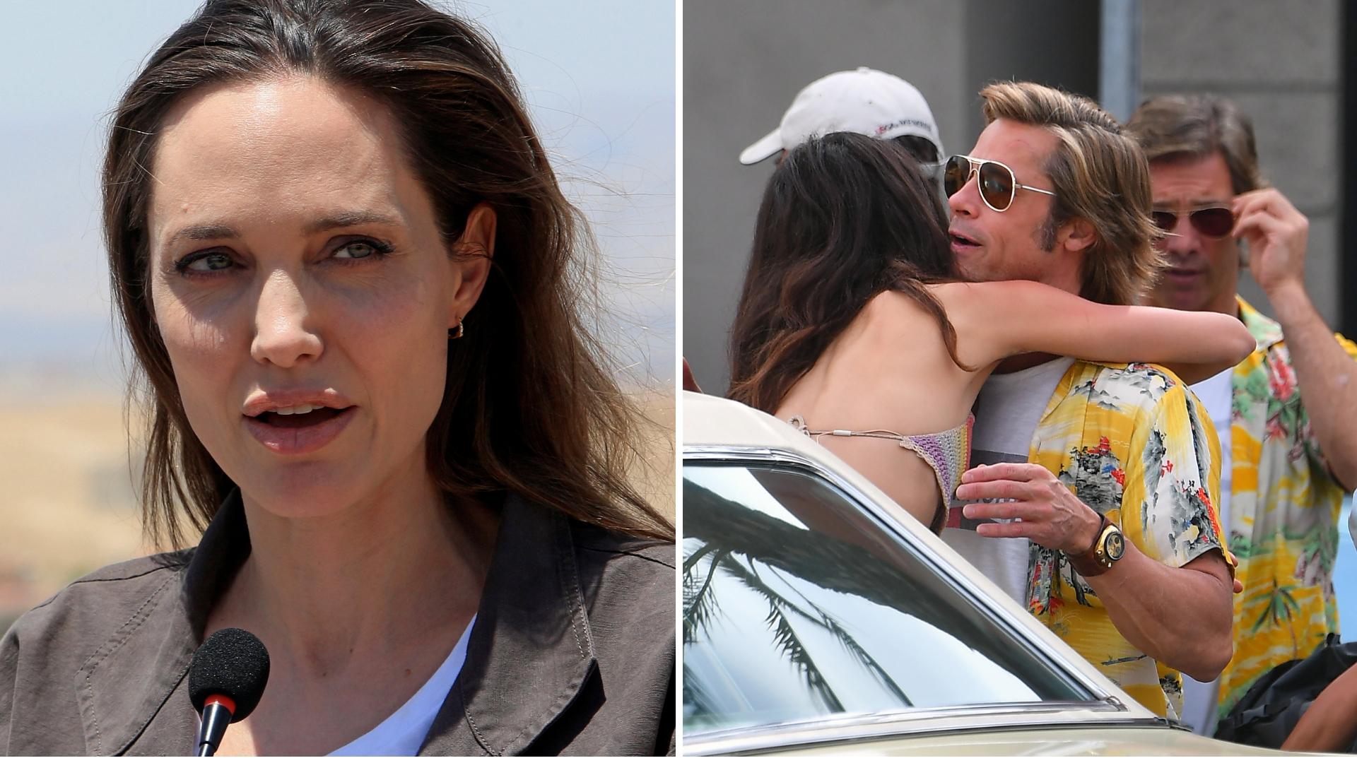 Angelina jest KOSZMARNIE zazdrosna o koleżankę Brada! Wciąż chce z nim być?