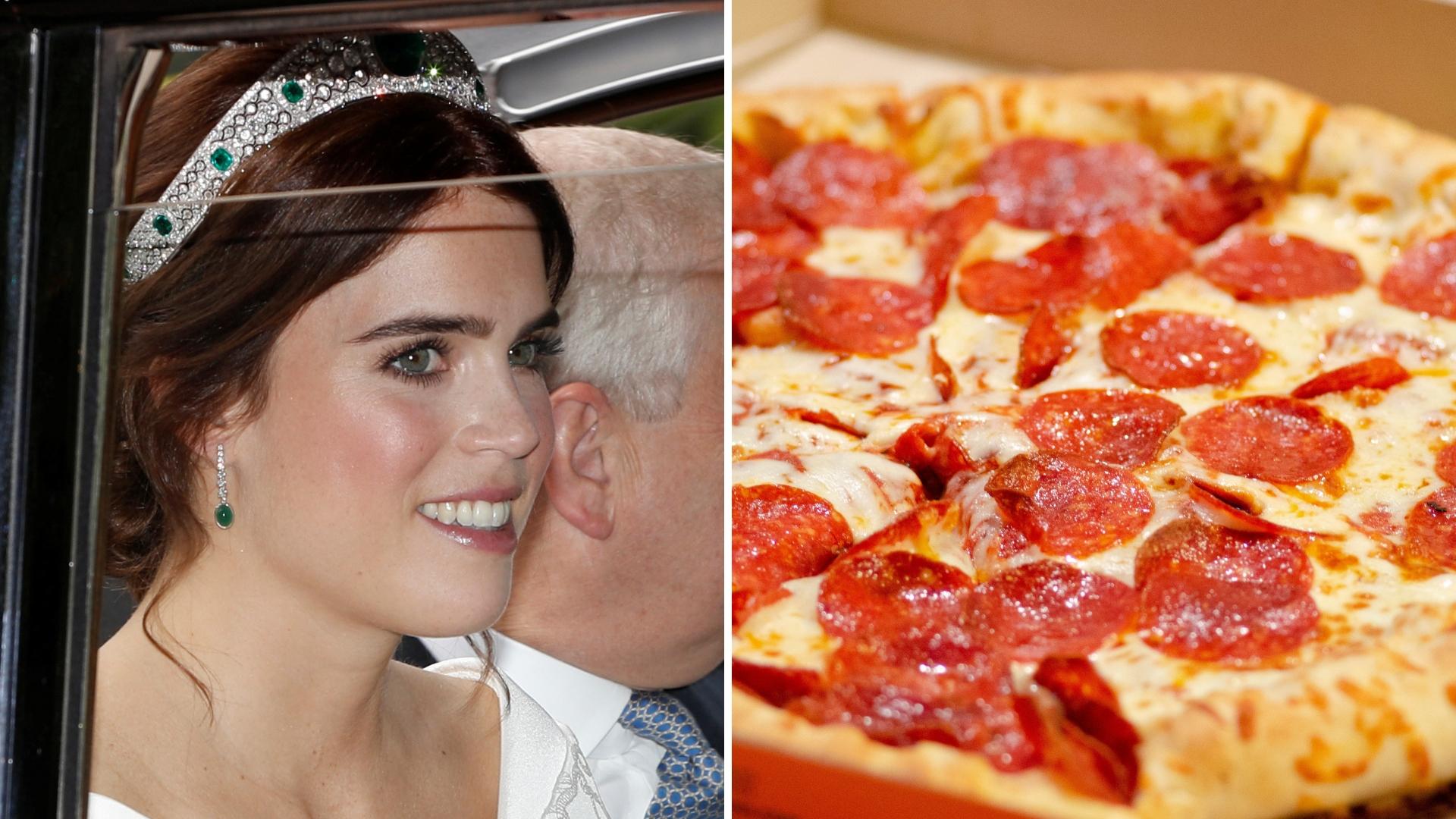 Goście księżniczki Eugenii dostali na obiad pizzę?! Mało wykwintna uczta
