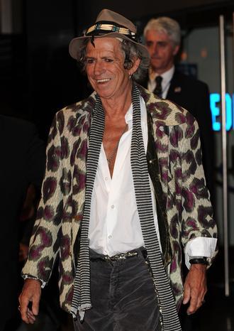 Keith Richards nosi przy sobie nóż