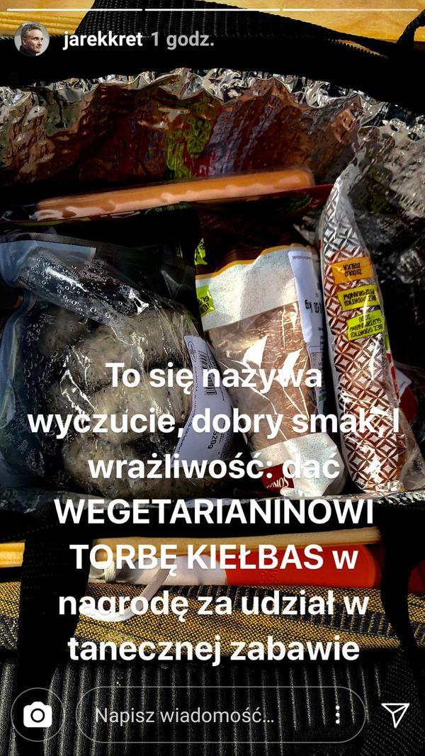 Jarosław Kret dostał TORBĘ KIEŁBAS za udział w Tańcu z gwiazdami