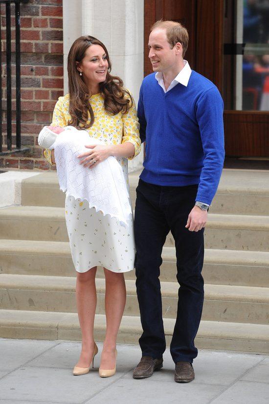 Księżniczka Charlotte z księciem Jerzym na pierwszym zdjęciu