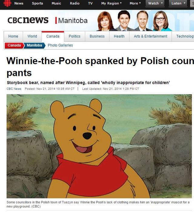 Światowy skandal z Polską i Kubusiem Puchatkiem