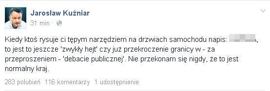 Jarosław Kuźniar: Kiedy ktoś rysuje ci tępym narzędziem...