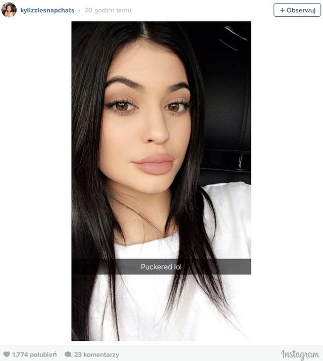 Kylie Jenner zdradzi�a trik na pon�tne usta na Instagramie