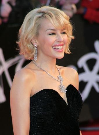 Kylie Minogue promuje swojego ukochanego