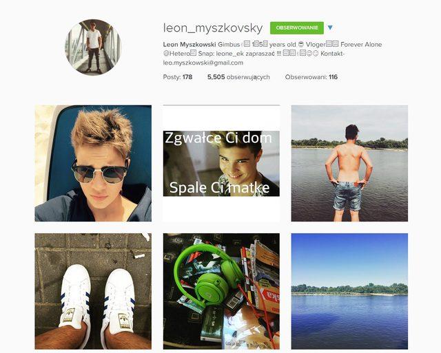 Syn Steczkowskiej przeprasza za g�upiego mema (Instagram)