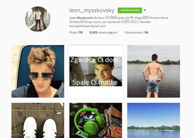 Syn Steczkowskiej wrzucił na Instagram kontrowersyjną fotkę