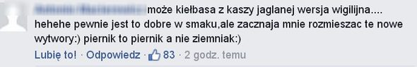 Fan do Lewandowskiej: Może kiełbasa z kaszy jaglanej...