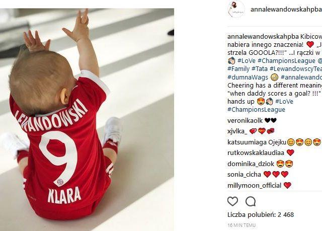 Klara w koszulce Lewandowskiego to najsłodsze, co dziś zobaczycie! (Instagram)