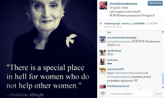 Lewandowska pojawiła się na Instagramie Chodakowskiej