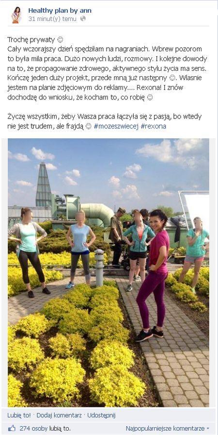 Anna Lewandowska na planie reklamy (FOTO)