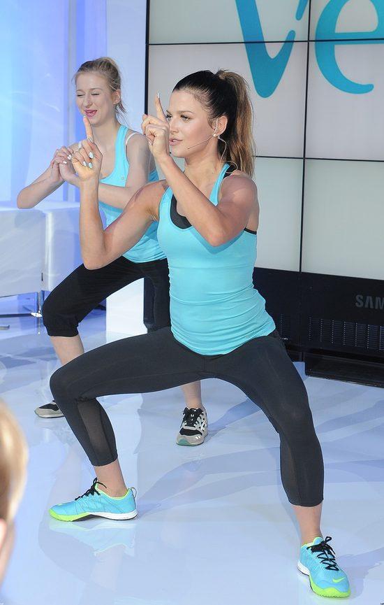 Turkusowa Lewandowska motywuje na treningu (FOTO)