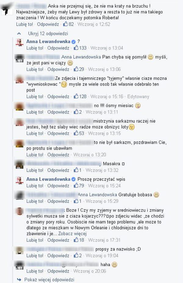 Anna Lewandowska w ciąży? Internauci gratulują