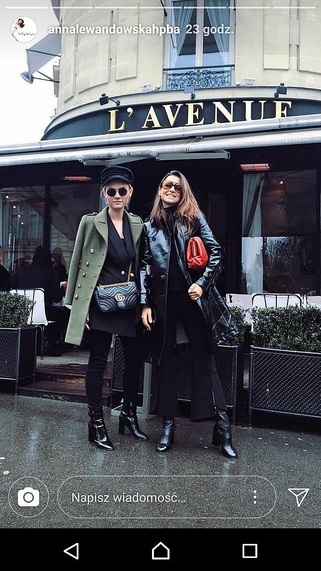 Stylizacja Anny Lewandowskiej na Paris Fashion Week podzieliła fanki (Instagram)