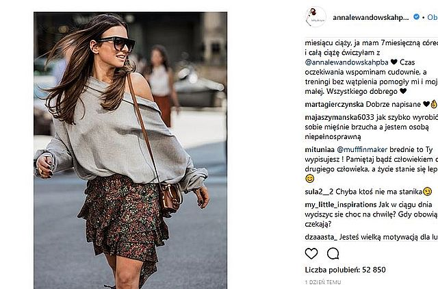 Wpadka! Anna Lewandowska zapomniała założyć BIELIZNY (Instagram)