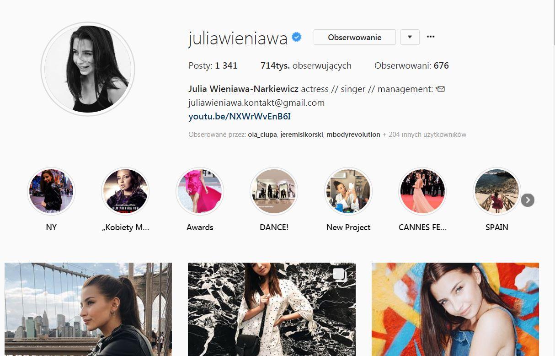 Na Instagramie Julii Wieniawy COŚ się wydarzyło!