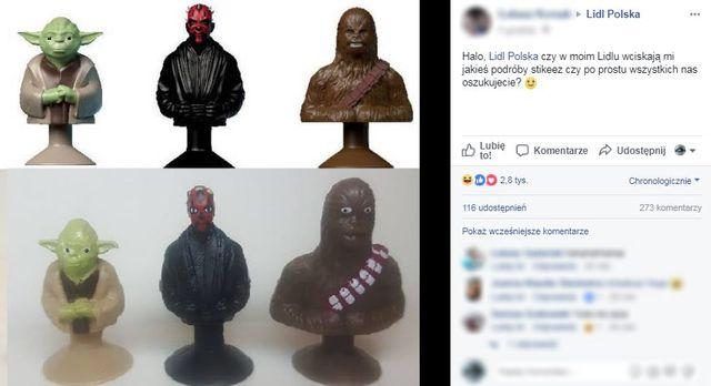 Yoda ma ZEZA, a Chewbacca TAMPONY na wyposażeniu - klienci Lidla rozczarowani