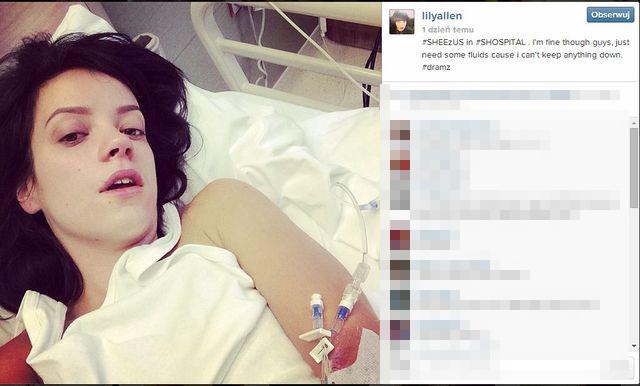 Lilly Allen wylądowała w szpitalu (FOTO)