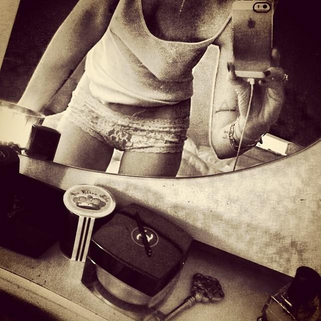 Pochwaliła się na Instagramie koronkową bielizną