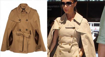 Victoria Beckham w kusym sukienko-płaszczu (FOTO)