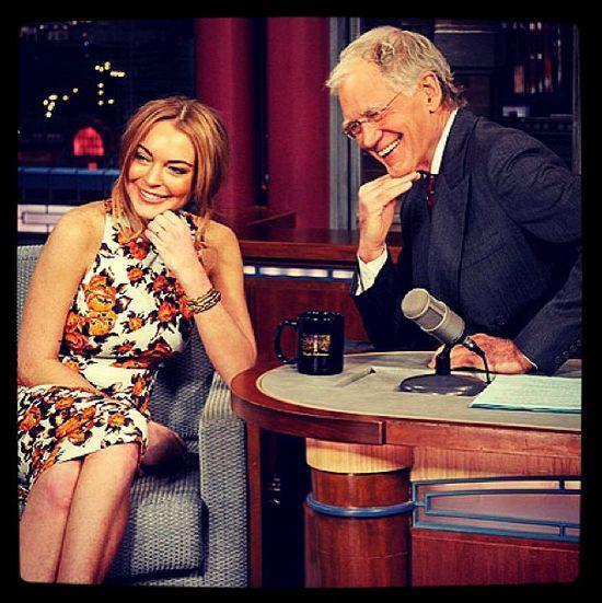 Lindsay Lohan u Davida Lettermana