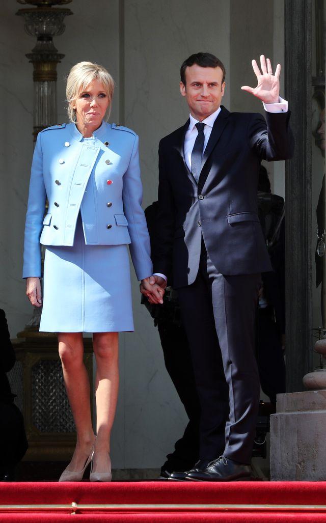 Brigitte Macron jak Melania Trump? Pierwsza dama Francji na zaprzysiężeniu męża