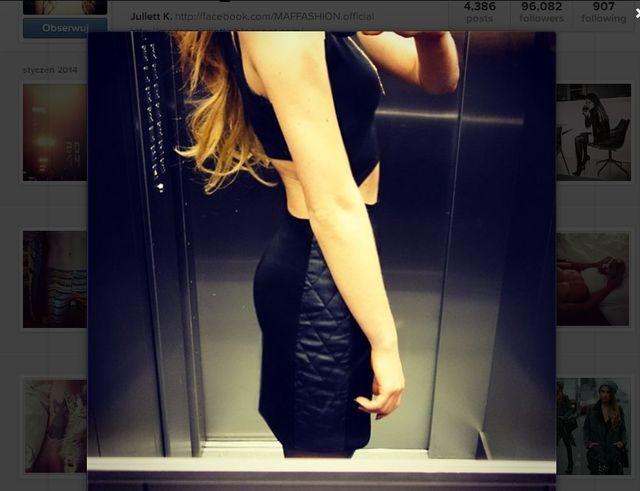 Chciała pokazać legginsy czy pochwalić się brzuchem? (FOTO)