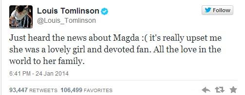 One Direction składa hołd polskiej fance, która zginęła...