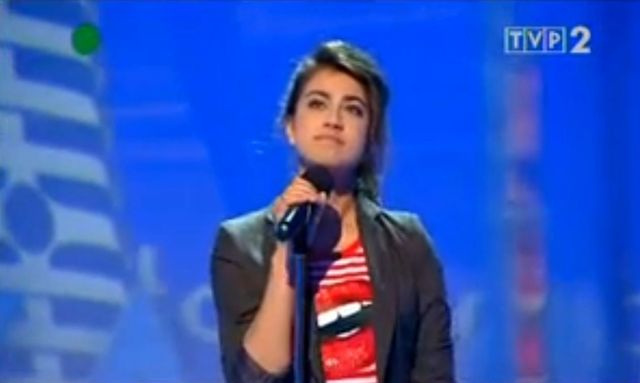 Maja Hy�y (Krygier) jeszcze jako panienka w telewizji (WIDEO
