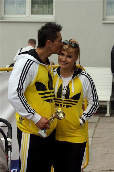 Jak Skrzynecka dopingowała męża na zawodach (FOTO)