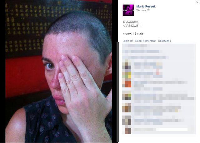 Maria Peszek zgoliła włosy! (FOTO)