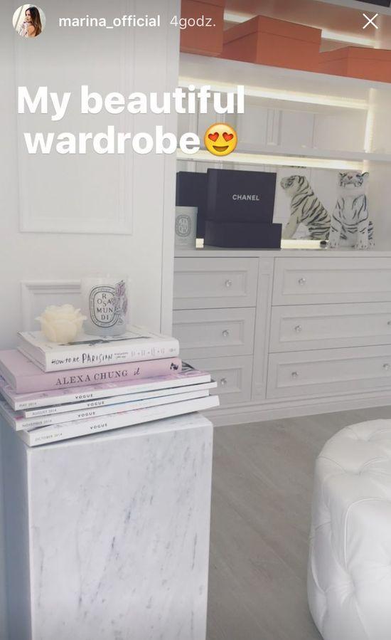 Marina pokazała garderobę! Ładniejsza niż ta Kim Kardashian!