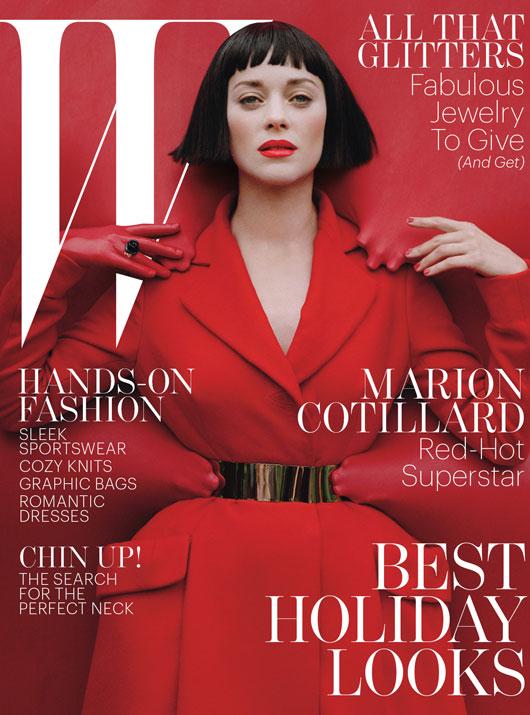 Marion Cotillard na ok�adce W magazine (FOTO)