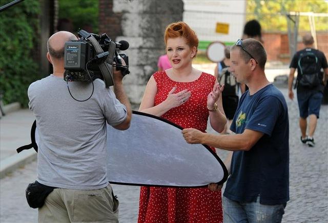 Marta Grycan na planie nowego show (FOTO)