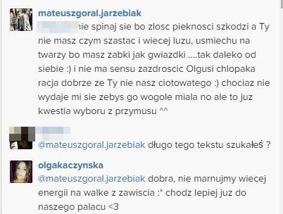 Mateuszowi Jarz�biakowi pu�ci�y nerwy na Instagramie
