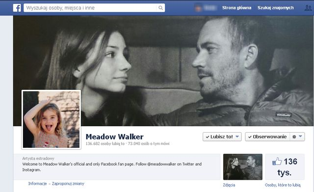 Córka Paula Walkera pokazała swoje zdjęcie z ojcem (FOTO)
