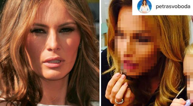 Czeska prezenterka robi furorę, bo wygląda jak… Melania Trump! (Instagram)