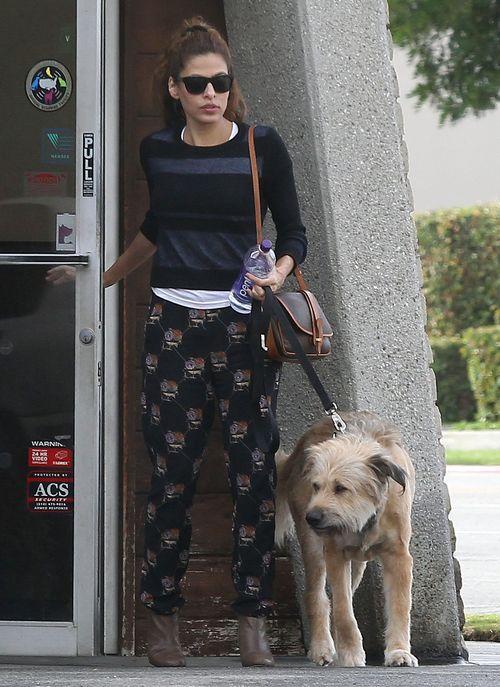 Eva Mendes z psem Ryana Goslinga