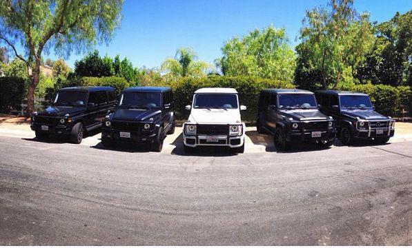 Kolekcja Mercedes�w Kardashianek i Jennerek (FOTO)