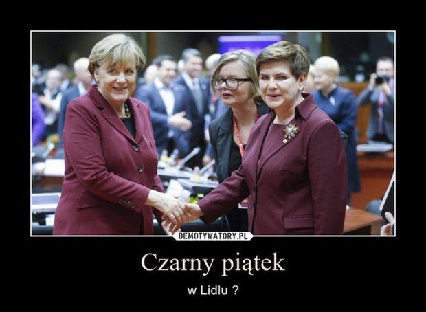 Szydło i Merkel w Brukseli w podobnych garsonkach (MEMY)