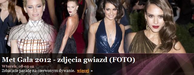 Met Gala 2012 - druga część zdjęć (FOTO)