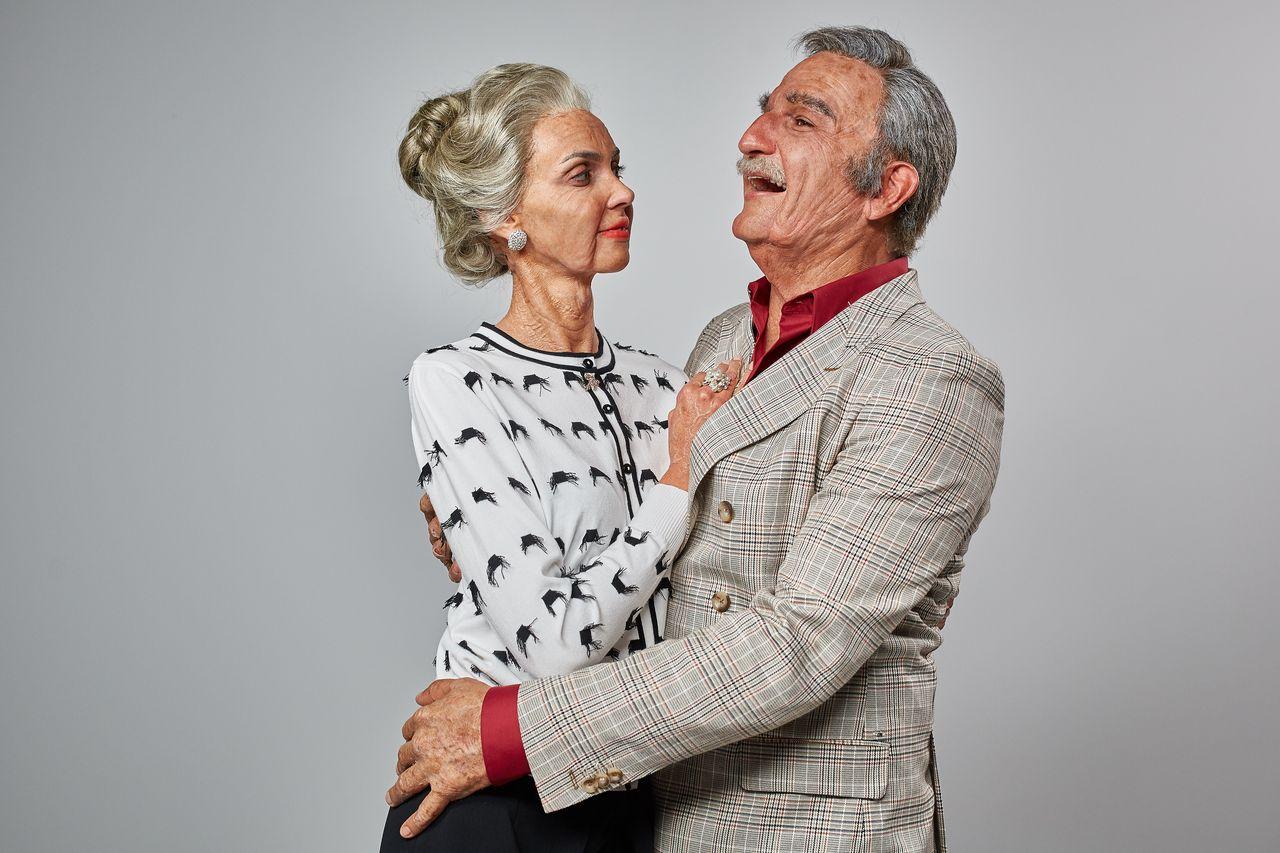 Michał Koterski i Marcela Leszczak zobaczyli, jak będą wyglądać za 50 lat (ZDJĘC