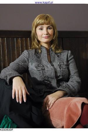 Joanna Brodzik na planie